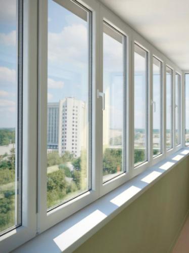 Остекление лоджий алюминиевыми окнами